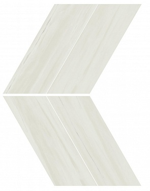 Marvel Bianco Dolomite Chevron Lappato (AS1Q) 22,5X22,9 Керамогранит