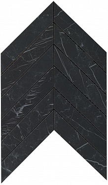 Marvel Nero Marquina Chevron Wall (9SCN) 30,5X25 Керамическая плитка