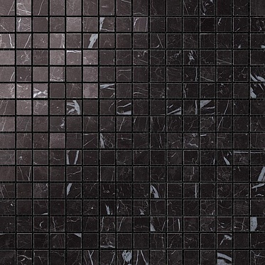 Marvel Nero Marquina Mosaico Lapp. (AS3U) Керамогранит