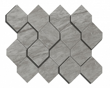 Marvel Bardiglio Grey Mosaico Esagono 3D (AS39) 28,2X35,3 Керамогранит