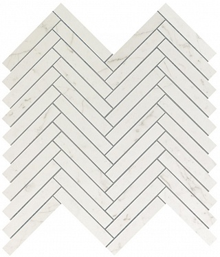 Marvel Carrara Pure Herringbone Wall (9SHC) 30,5X30 Керамическая плитка